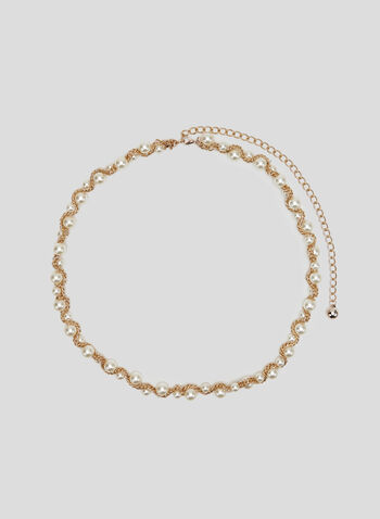 Pearl Chain Belt, Off White, hi-res