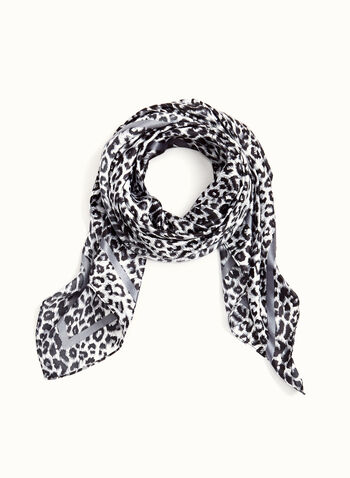 Animal Print Square Scarf, , hi-res