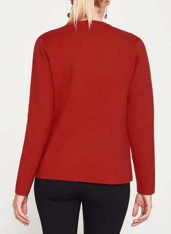 Elena Wang - Open Front Double Knit Cardigan, , hi-res