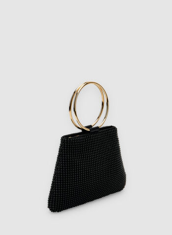 Beaded Clutch, Black, hi-res