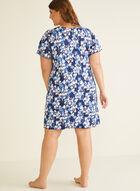Chemise de nuit motif floral à détail lien, Rose