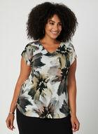 Floral Print Blouse, Grey