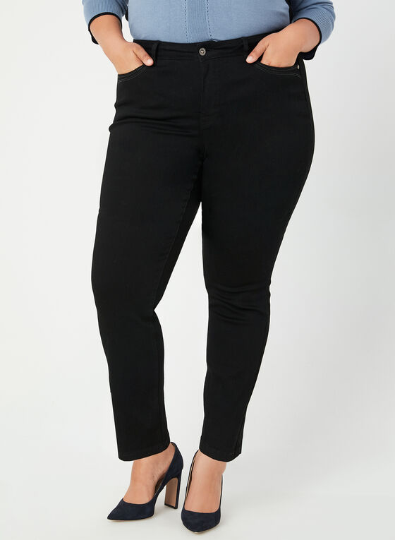 Modern Fit Straight Leg Jeans, Black