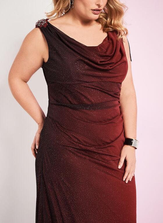 Ombré Glitter Gown, Black, hi-res
