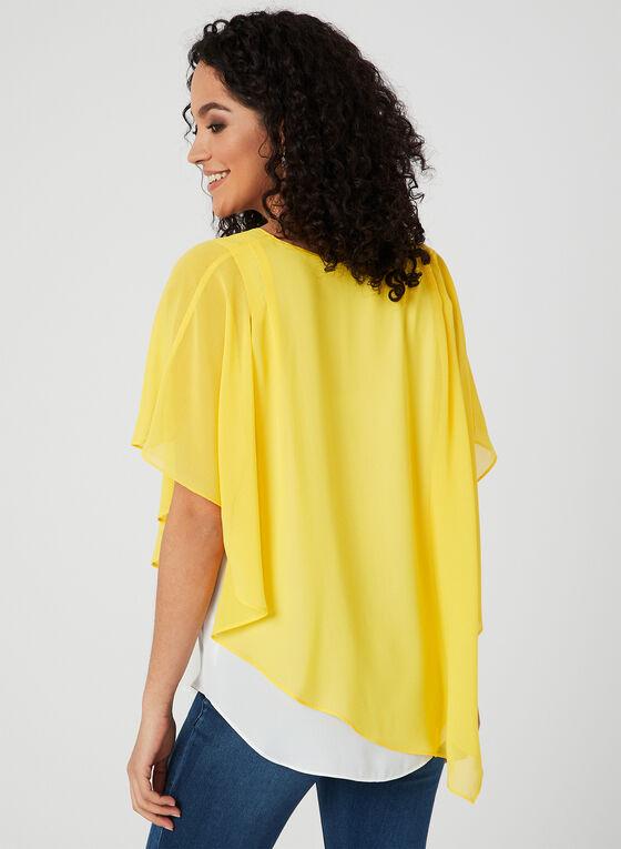 Alison Sheri - Chiffon Poncho Blouse, Yellow