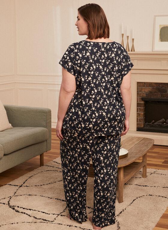 Floral Print Pyjama Set, White