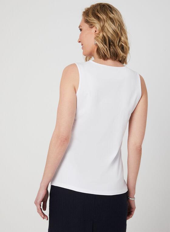 Grommet Neckline Camisole, White, hi-res