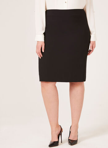 Classic Pencil Skirt, Black, hi-res
