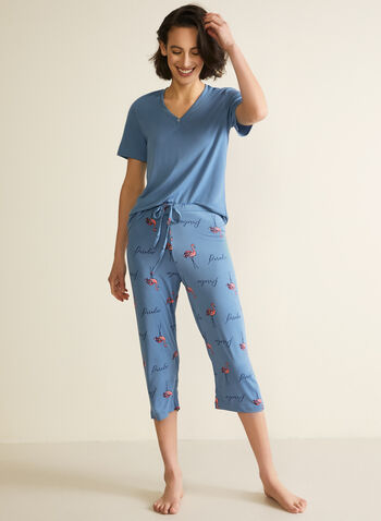 Patterned Pyjama Set, Blue,  fall winter 2020, set, pyjama