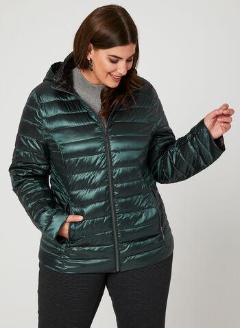 Nuage - Packable Down Coat, Green, hi-res