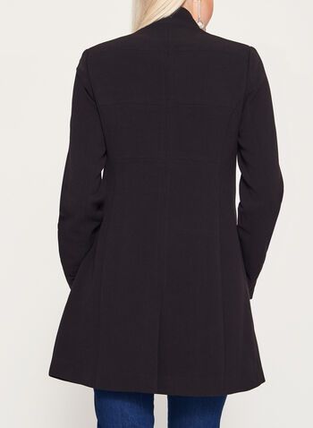 Mandarin Collar Crepe Coat, , hi-res