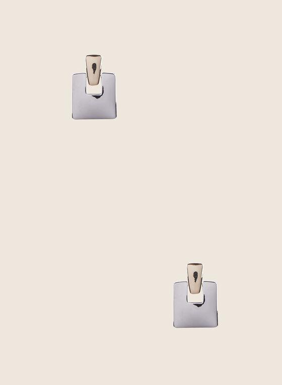 Boucles d'oreilles carrées, Jaune