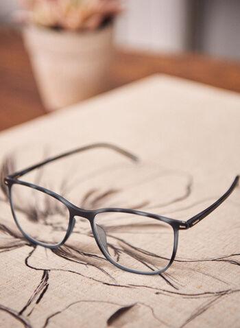 Lunettes de lecture à motif écaille de tortue, Bleu,  lunettes, plastique, motif animal, arrondie, printemps été 2021, accessoires