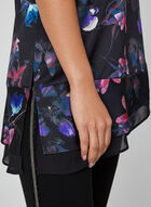 Sleeveless Floral Print Blouse, Multi, hi-res