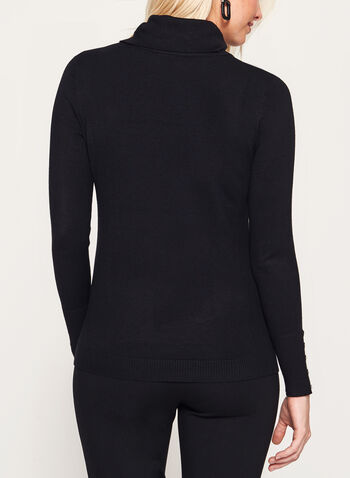 Stripe Knit Funnel Neck Sweater, , hi-res