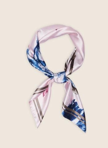 Floral Motif Lightweight Scarf, Pink,  scarf, lightweight, floral, spring summer 2020
