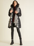 Down Blend Quilted Coat, Black