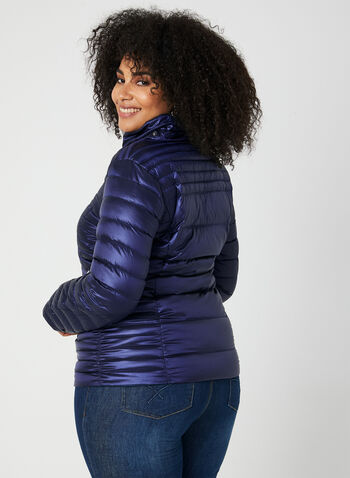 Quilted Packable Lightweight Coat , Blue, hi-res,  coat, quilted, removable hood, long sleeves, pockets, fall 2019, winter 2019