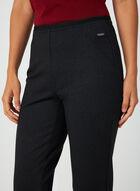 Pantalon coupe cité à motif géométrique, Noir