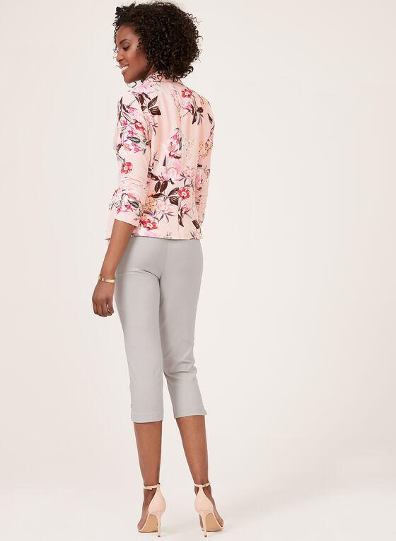 Jules & Leopold – Floral Print Ruched Sleeve Blazer, Multi, hi-res