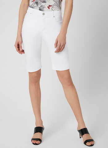 Simon Chang - Signature Fit Shorts, White, hi-res,  walking shorts, tummy control, microtwill, spring 2019
