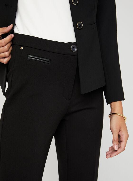 Pantalon coupe signature à jambe droite , Noir, hi-res