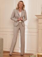 Louben - Modern Fit Straight Leg Pants, Grey