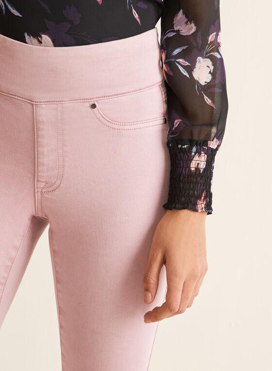 Pull-On Denim Capri Pants, Purple