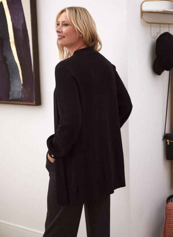 Long Sleeve Open Cardigan, Black