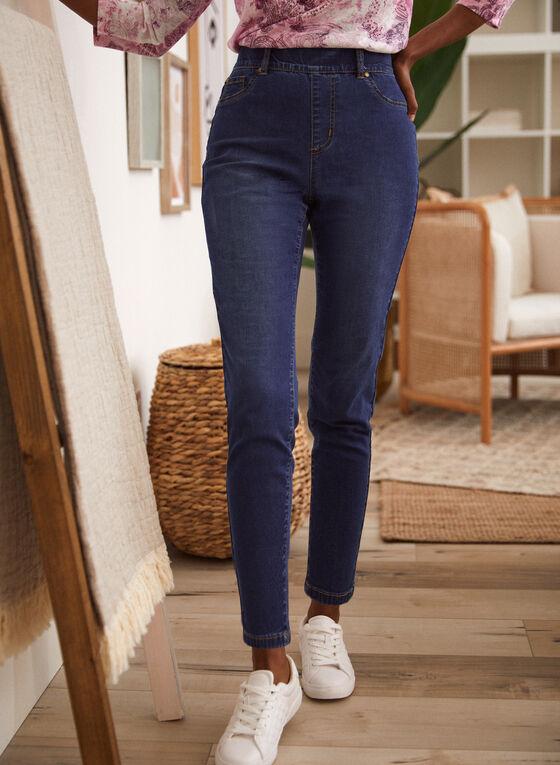 Slim Leg Pull On Jeans, Blue
