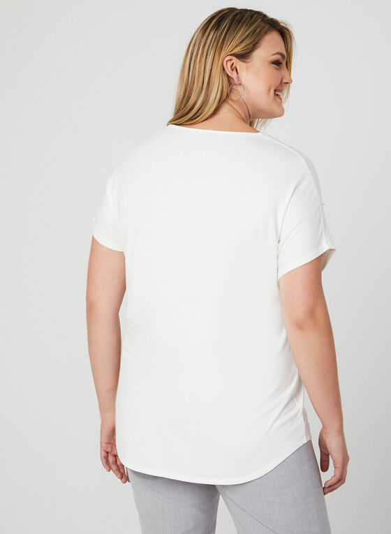 Pearl Embellished Top, Off White, hi-res
