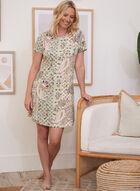 Paisley Print Nightgown, Green