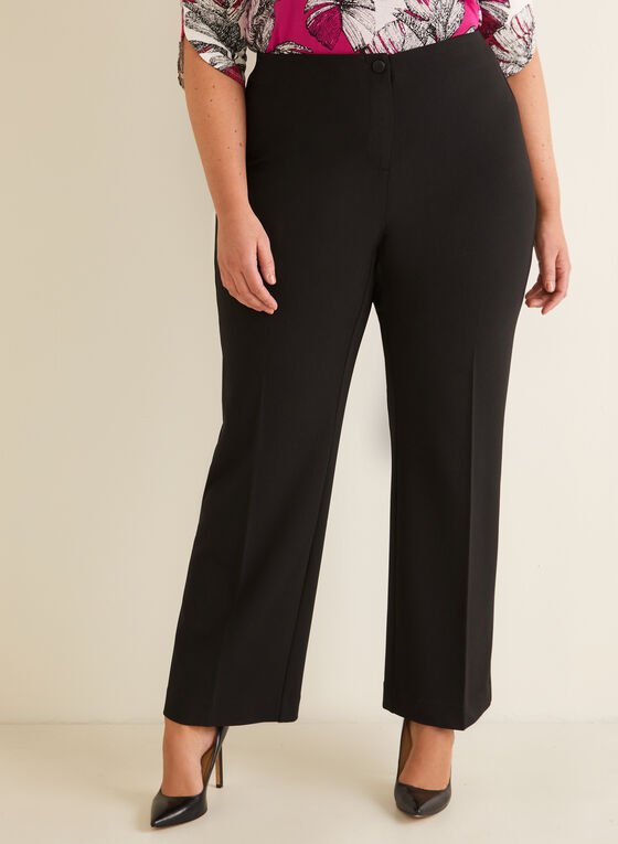 Modern Fit Wide Leg Pant, Black