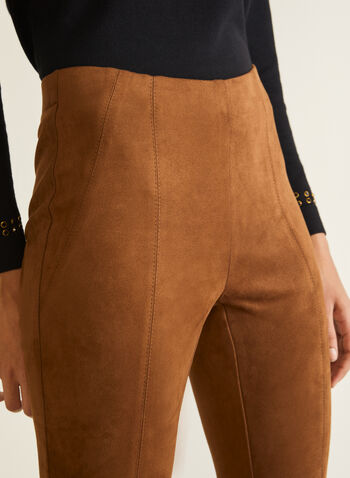 Faux Suede Leggings, Brown,  leggings, faux suede, stitch, pull-on, fall winter 2020
