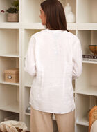 Charlie B - Embroidered Linen Blouse, White