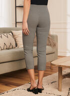 Weave Print Slim Leg Capris, Black