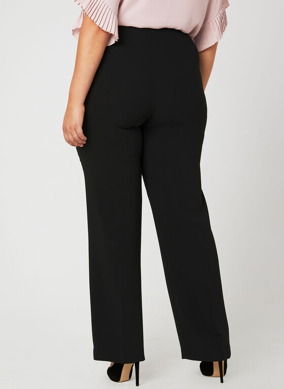 Louben - Signature Fit Wide Leg Pants, Black, hi-res