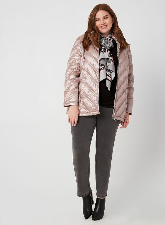 Quilted Down Jacket, Pink