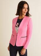 Veste ajustée à zips décoratifs, Rose