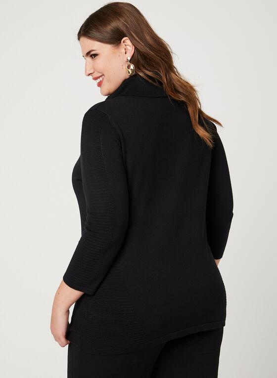 Ottoman Knit Sweater, Black, hi-res