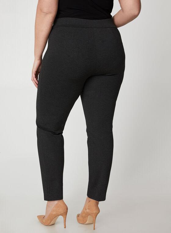 Pantalon à taille élastique et jambe étroite, Gris