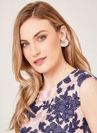 Floral Embroidered Mesh Sheath Dress, Blue, hi-res