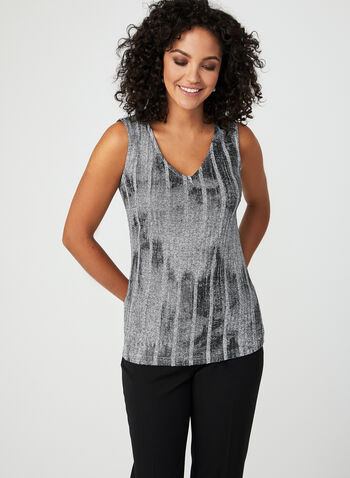 Vex - Rib Knit Tank Top, Grey, hi-res