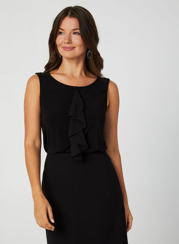 Sleeveless Ruffle Top, Black,  Canada, top, sleeveless, ruffles, fall 2019, winter 2019