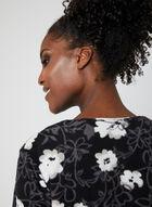 Sandra & Tiffany - Front Zipper Fleece Nightgown, Black, hi-res