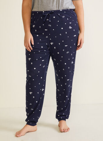 Patterned Pyjama Pants, Blue,  fall winter 2020, pyjama, pants