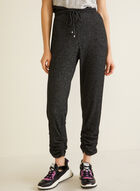Ruched Leg Pull-On Pants, Grey
