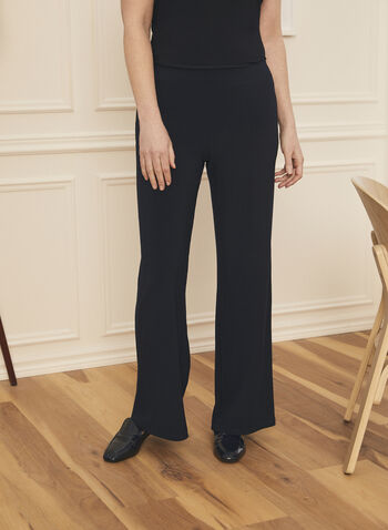Wide Leg Jersey Pants, Blue,  pants, wide leg, pull-on, jersey, fall winter 2020