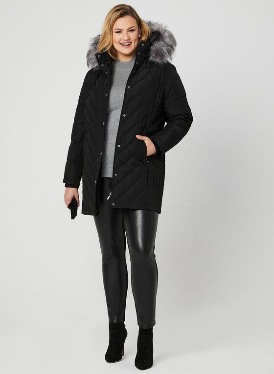Manteau matelassé en duvet, Noir