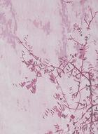 Foulard léger motif feuillage, Rose